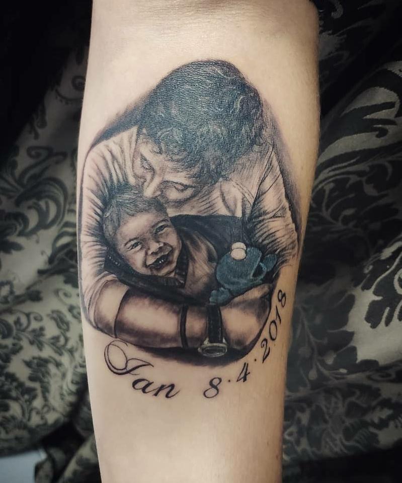 foto tatuaje retrato